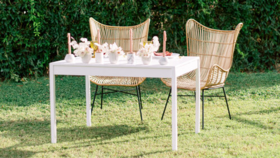 """Image of a Adeline White Sweetheart Table (72"""" L x 30"""" H)"""