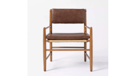 Image of a Bentley Vegan Brown Leather Chair