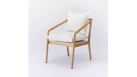 Image of a Austin White Padded Chair