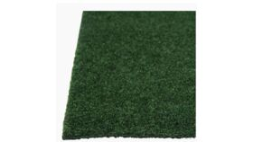 Image of a 12'x10' Grizzly Grass Dark Green Plush Carpet