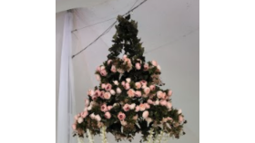 Image of a 3 Tier Peony Chandelier