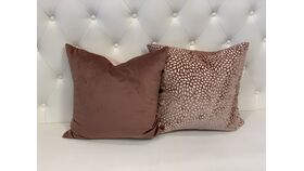 Image of a *Reversible Evie Cut Blush Velvet Pillow Set