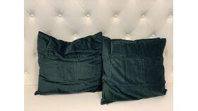 Image of a *Hunter Green Velvet Pillow Set