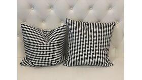 Image of a *Stockholm B&W Pattern Pillow Set