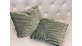 Image of a *Sage Velvet Pillow Set