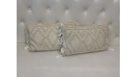 Image of a *Beige Bohemian Pillow Set