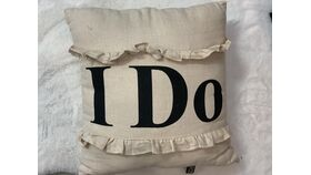 Image of a *'I Do' Beige Pillow