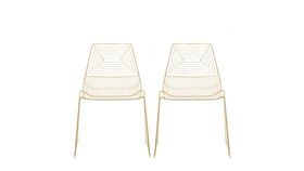 Image of a Brooklyn Gold Metal Dining Chair