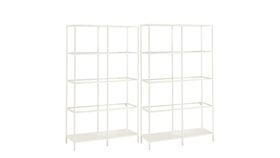 Image of a Chelsea White Shelf Set of x2
