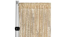 Image of a Backdrop-Sequins Champagne Drape