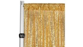 Image of a Backdrop-Sequins Gold Drape