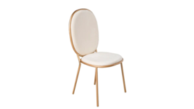 Image of a Antoinette White Velvet Dining Chair