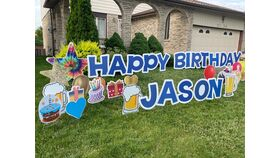 Image of a Lawn Sign Rental - Happy Birthday