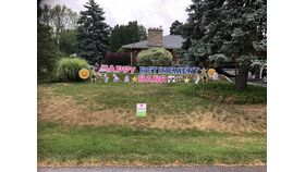 Image of a Lawn Sign Rental - Happy Retirement