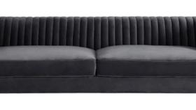 Image of a Aviator Sofa in Gray Velvet