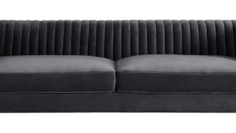 Picture of a Aviator Sofa in Gray Velvet