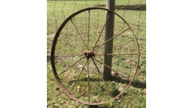 Image of a Antiqued Wagon Wheels