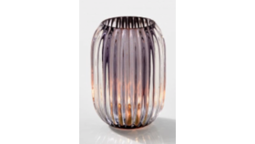 Image of a 5in Smoke Optical Glass Votive Holder