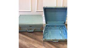 Image of a Antique Blue Suitcase