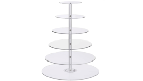 Image of a 6 Tier Cupcake Stand