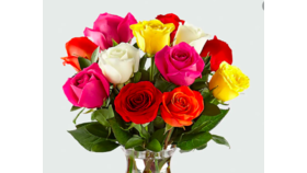 Image of a Bronze Bouquet of 9 Assorted Roses