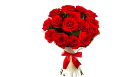 Image of a Gold Package 18 RED Roses