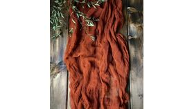 Image of a 10 Ft Terracotta Cheesecloth Table Runner