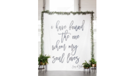 """Image of a """"Whom My Soul Loves"""" Backdrop"""