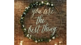 """Image of a """"You Are the Best Thing"""" Gold Backdrop"""