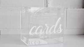 Image of a Acrylic Card Box