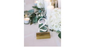 Image of a Acrylic Table Number