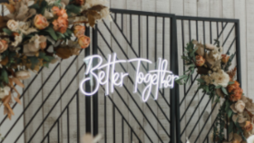 "Image of a ""Better Together"" Neon Sign"