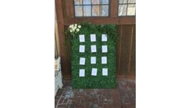 Image of a Boxwood Seating Assignment Display