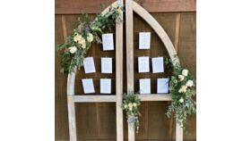Image of a Cathedral Window Seating Assignment Display