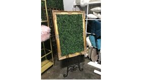 Image of a Framed Boxwood Seating Assignment Display #2