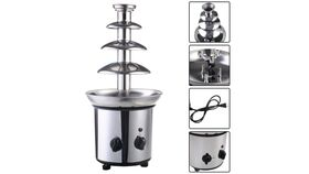 Image of a 4 Tiers Commercial Stainless Steel Chocolate Fountain