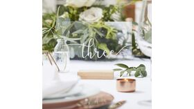 Image of a Acrylic Table Numbers, Set of 12