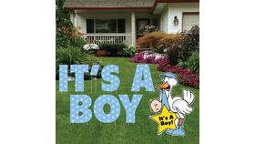 Image of a Yard Sign - It'S A Boy - 10 pieces plus stakes