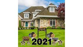 Image of a Yard Sign - Graduation 2021 - 13 pieces plus Stakes