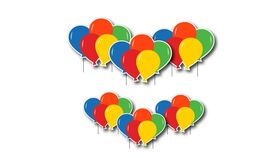 Image of a Yard Sign - Birhday Balloon Clusters - 6 pieces - plus stakes