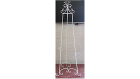 Image of a Antique White Metal Easel