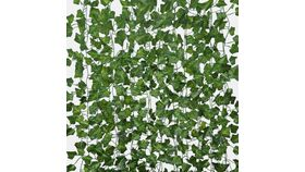 Image of a Green Artificial Flower Ivy leaf Garland