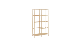 Image of a 5 Tier Display Shelf Unit - Gold Metal