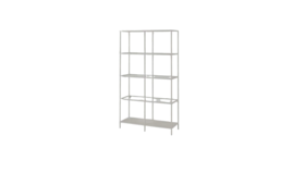 Image of a 5 Tier Display Shelf Unit - Antique White Metal