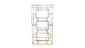 Image of a Geometric Bar back-Gold