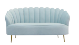 Image of a Shell Sofa – Baby Blue
