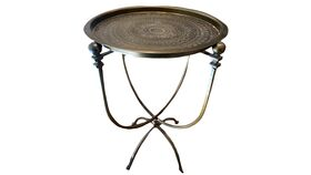 Image of a Brass tray table