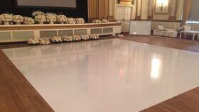 Image of a 24FT x 24FT Gloss White Vinyl Floor Wrap in Plain White