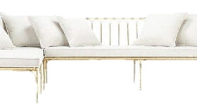 Image of a Gold Sectional